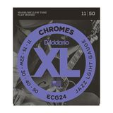 D'ADDARIO Saiten Chromes Flatwound 11-50 ECG24 Light Stainless Steel