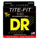 DR E-Git.Saiten,11-50,Tite Fit Nickel Plated Round Core