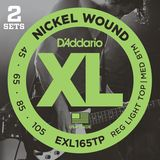 D'ADDARIO 2 Sets 4er XL Nickel 45-105 45-65-85-105