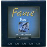 Fame Bass Saiten,5er,45-130 Nickel Plated Steel