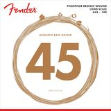 Fender Acoustic Bass Str. 8060 45 100 Phosphor Bronze, Longscale