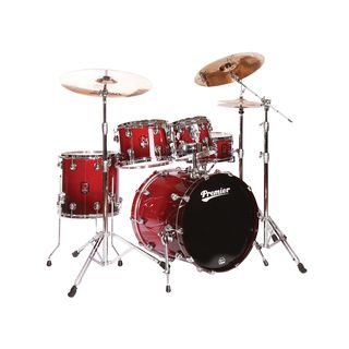 Premier Drums Genista Maple Stage 22 Set, Cherry Red Fade #CRF
