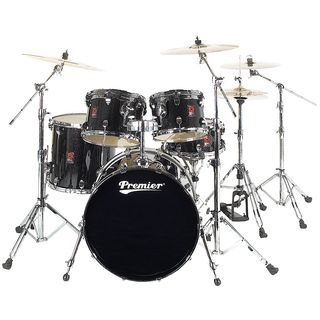 Premier Drums Classic Maple Stage 22 Set, Black Sparkle Lacquer #BSX