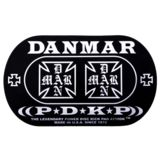 Danmar Drum Zubehör BassDrum Kickpad 210DKIC, Double Pedal, Iron Cross