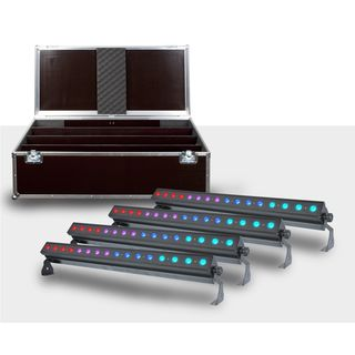 _SET_ 4x LightmaXX Platinum BAR TRI-LED Stripe incl. Case