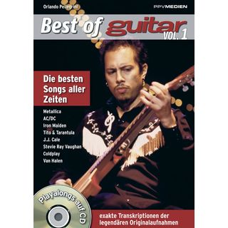 PPV Medien Best of Guitar - Playalongs 1 Buch und CD, Pellegrini