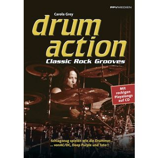PPV Medien Drum Action - Classic Rock Grey, Buch inkl. Playalong CD