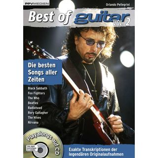 PPV Medien Best of Guitar - Playalongs  2 Buch und CD, Pellegrini
