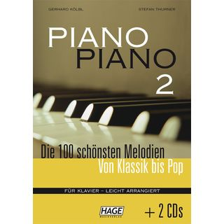 Edition Hage Piano Piano 2 inkl. 2 Playlong CDs