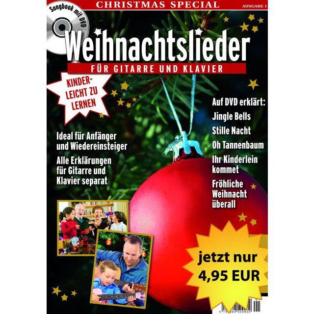 PPV Medien - Weihnachtslieder für Gitarre Buch/DVD (Gitarre & Klavier)