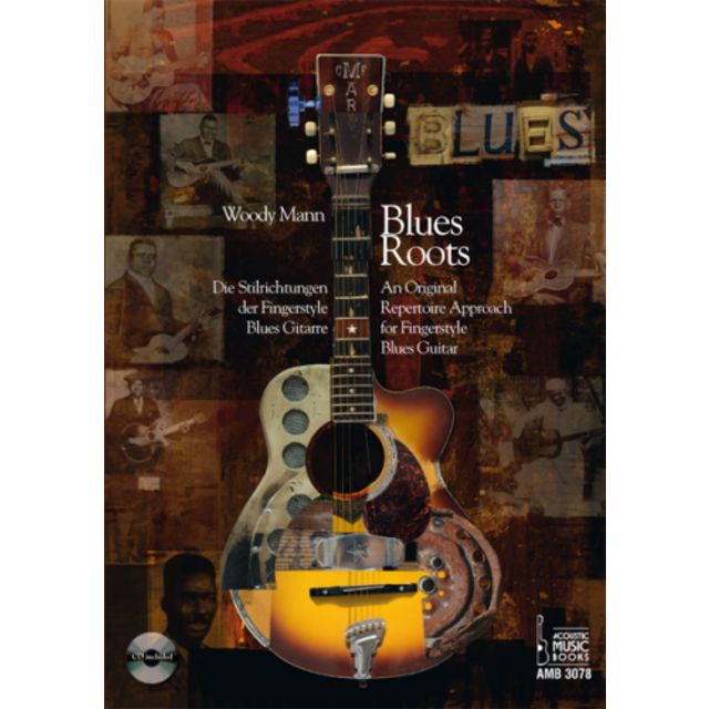 Acoustic Music Books Blues Roots Woody Mann, Buch/CD