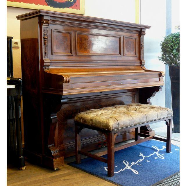 Ibach - Klavier Modell H-128 Antik 128 cm Wurzelnußbaum Schellack