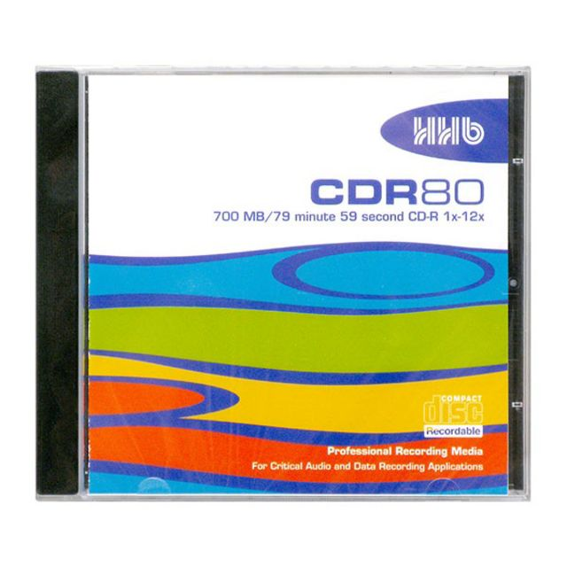 HHB - CDR 80 IP CD-Rohling printable silver, 80 min / 700 MB