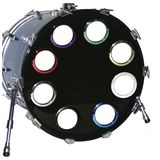 "BASS DRUM O´S BD-Fell Verstõrkungsring 4"" Red Chrome, HCR5 Product Image"