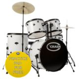 Crash Force Five Drum-Set White Produktbild