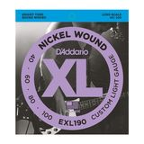 D'Addario Bass Strings XL Nickel 40-100 40-60-80-100, EXL190 Product Image
