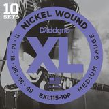 D'Addario E-Guit.String EXL115-10P 11-49 Nickel Wound 10 Sets Product Image