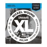 D'Addario E-Guit.StringEXL148 12-60 Drop Nickel Wound  Drop C Tuning Product Image