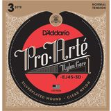 D'Addario K-Git.Saiten Pro Arte EJ45-3D Silverplated, Normal, 3er Set Produktbild