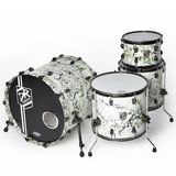 DR Customs Splatter Shell Set White with Green/Black Splatter Produktbild