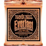 Ernie Ball EB2546 12-54 Everlast Coated Phosphor Bronze Medium Light Produktbild