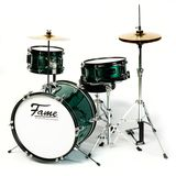 "Fame 3 PC Junior Drumset Green ""Luis"" Product Image"