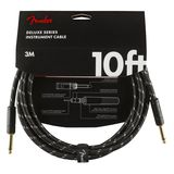 Fender Deluxe Series Instrument Cable 3m (Black Tweed) Product Image
