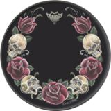 "Remo Tattoo Skyn 22"", Rock and Roses on black Product Image"