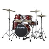 Yamaha Manu Katché Junior Kit JK6F5, Cranberry Red Product Image