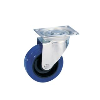 Adam Hall 37023 - Swivel Castor 100 mm with blue Wheel Zdjęcie produktu