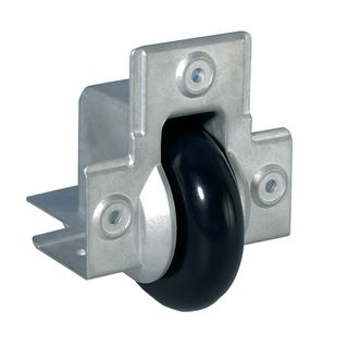 Adam Hall 37551 - Recessed Edge Castor with soft Wheel 75 mm Product Image