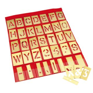 Adam Hall 5802 Stencil Set Brass Character height  50 mm Product Image