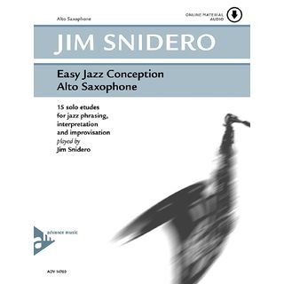 Advance Music Snidero: Easy Jazz Conception Jim Snidero, Alt-Sax & CD Product Image