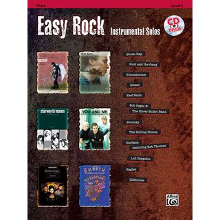 Alfred Music Easy Rock - Flute Instrumental Solos, Book/CD Product Image
