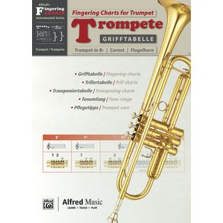 Alfred Music Grifftabelle Trompete  Product Image