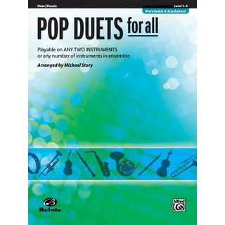 Alfred Music Pop Duets for All - Flute Mixed Ensemble Product Image