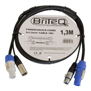 Briteq Powercon/XLR PRO Combi Cable 1,3m Product Image