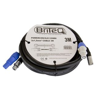 Briteq Powercon/XLR PRO Combi Cable 3m Product Image