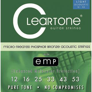 Cleartone A-Guitar Strings 12-53 CT7412 Light, EMP Strings Product Image