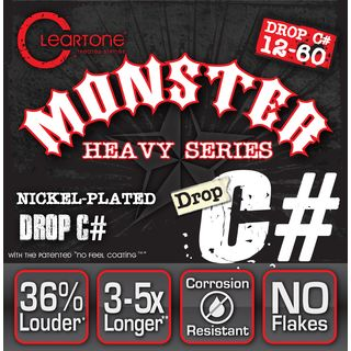Cleartone E-Guitar Strings 12-60 CT9460 Drop C#, EMP Strings Product Image