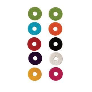 Color Your Drum Cymbal Felts, 35x5mm, 10 pc. , mixed colors Product Image