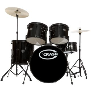 Crash Force Five DrumSet, Black, Black HW Product Image