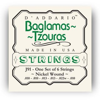 D/'Addario EJ91 Baglamas-Tzouras Nickel Plated Strings