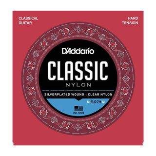 D'Addario Classical Guitar Strings EJ27H Silverplated, Hard Product Image