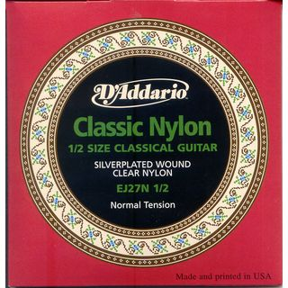D'Addario Classical Strings EJ27N-1/2 1/2 Size, Silverplated, Normal Product Image