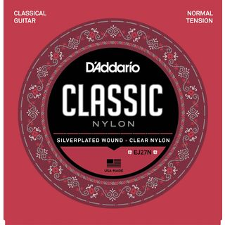 D'Addario Classical Strings EJ27N-3/4 3/4 Size, Silverplated, Normal Product Image
