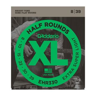 D'Addario E-Guitar Strings EHR330 08-39 Half Rounds Stainless Steel Product Image
