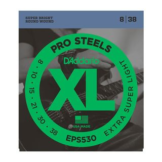 D'Addario E-Guitar Strings EPS530 08-38 Stainless Steel Round Wound Product Image