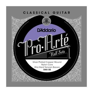 D'Addario Pro Arte Bass Set SNX-3B Silverplated, Extra Hard Product Image