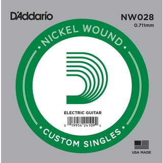 D'Addario Single String NW028 Nickelwound Product Image